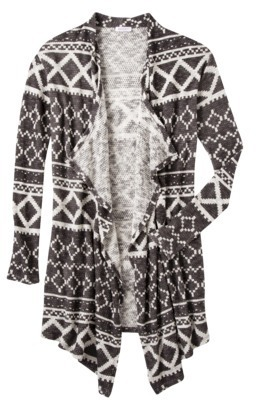 Xhilaration Juniors Printed Open Cardigan - Assorted Colors