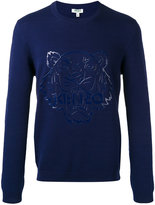 Kenzo tiger patch jumper - men - Cotton - XS