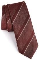 Z Zegna Mixed Stripe Silk Tie