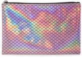 Forever 21 Holographic Mermaid Scale Makeup Pouch