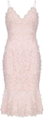 Aidan Mattox Embroidered Lace Sheath Dress