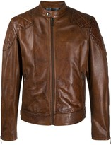 Belstaff fitted leather jacket