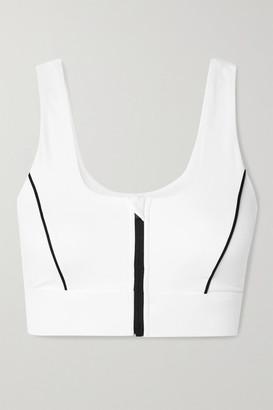 All Access Decibel Cutout Stretch Sports Bra - White