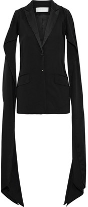 Esteban Cortazar Split-sleeve Draped Stretch-cady Jacket