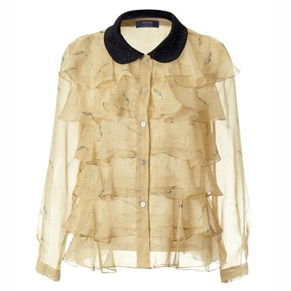 By Moumi Pearldrop Frilly Shirt