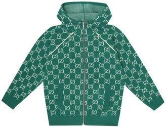 Gucci Kids GG jacquard wool track jacket
