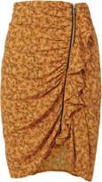 Veronica Beard Spencer Ruched Zip Mini Skirt