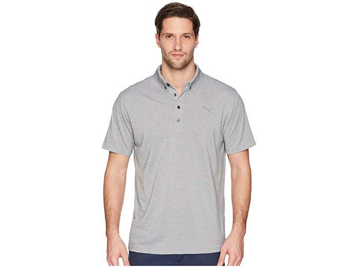 Puma Oxford Heather Polo Men's Short Sleeve Pullover