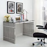 Modway Gridiron Stainless Steel Desk