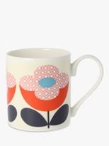 Orla Kiely Daisy Mug, 300ml, Pink/Multi