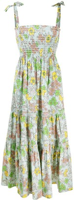 Tory Burch Floral-Print Tiered Dress