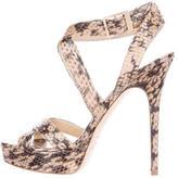 Jimmy Choo Snakeskin Vamp Sandals