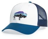 Patagonia Men's 'Fitz Roy Bison' Trucker Hat - White