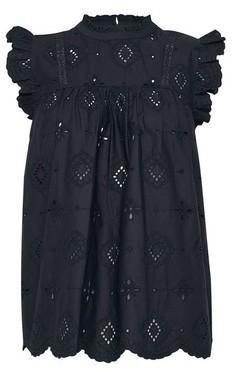 Dorothy Perkins Womens Black Organic Cotton Broderie Shell Top, Black