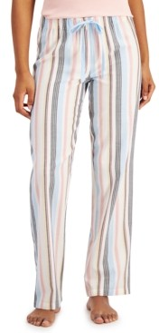 Jenni Striped Cotton Pajama Pants, Created for Macy's