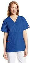 Dickies Women's Eds Signature Scrubs Missy Fit Mock Wrap Top