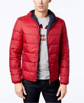 Armani Exchange Men's Reversible Logo-Print Puffer Jacket