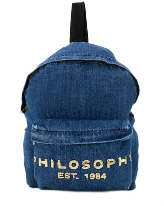 Philosophy Di Lorenzo Serafini Kids Logo Denim Backpack