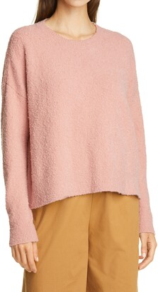 Eileen Fisher Crewneck Boxy Pullover