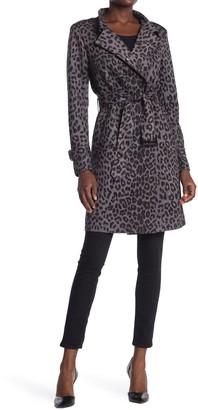 Love Token Sandee Leopard Print Trench Coat