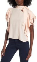 Leith Women's Ruffle Tie Neck Top