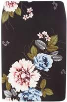 Dorothy Perkins Black Placement Floral Print Scuba Mini Skirt