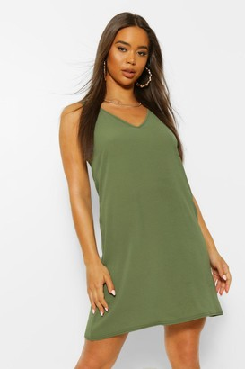 boohoo Woven V Neck Sleeveless Shift Dress