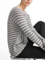 White + Warren Cashmere Mixed Striped Raglan