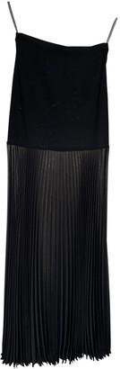 Herve Leger Black Silk Skirt for Women