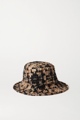 Dolce & Gabbana Tweed Bucket Hat - Brown