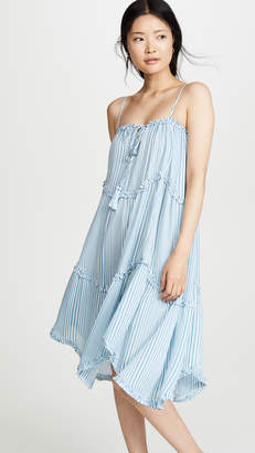 Moon River Sky Blue Stripe Dress