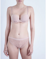 Implicite Intense jersey and stretch-lace push-up bra