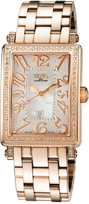 Gevril Women's Mezzo Swiss Diamond Watch, 37mm - 0.481 ctw