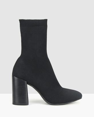betts Swift Block Heel Knit Sock Boots