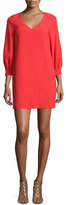 Trina Turk 3/4-Sleeve Cocoon Shift Dress, Ruby