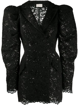Giuseppe di Morabito Sequin Embroidered Puff Shoulder Dress