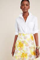 Maeve Faye Flounced Jacquard Mini Skirt