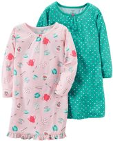 Carter's Girls 4-14 2-pk. Print & Ruffle Nightgown Set