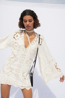 Free People Cutwork Mini Dress