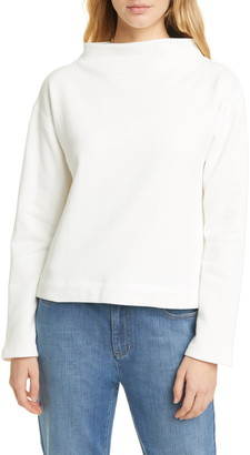 Eileen Fisher Funnel Neck Organic Cotton Top