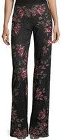 Nanette Lepore Bachata Wide-Leg Back-Zip Pants