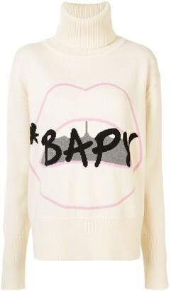 BAPY BY *A BATHING APE® x Markus Lupfer Lips roll-neck jumper