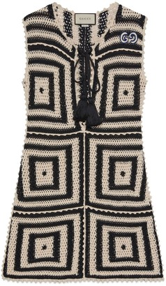 Gucci Short crochet cotton dress