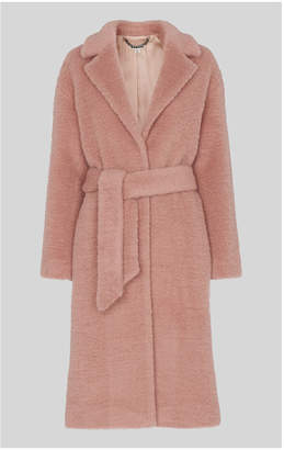 Whistles Wool Textured Belted Coat