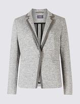 M&S Collection Textured Stretch Blazer
