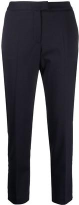 Brag-wette Side-Slit Tapered Trousers