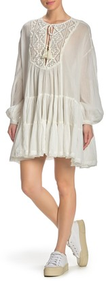 Free People Something Special Long Sleeve Mini Dress