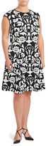 Vince Camuto Quilted Floral A-Line Dress