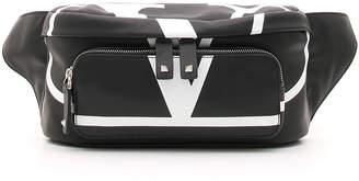 Valentino Men's VL Logo Leather Belt Bag