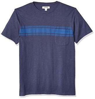 Goodthreads Amazon Brand Men's Lightweight Slub Crewneck Pocket T-Shirt